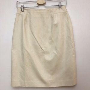 Talbots Solid Tan Cream Khaki Pencil Skirt Italian